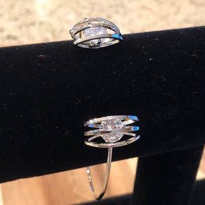 Beautiful Silver and CZ Cuff Bracelet